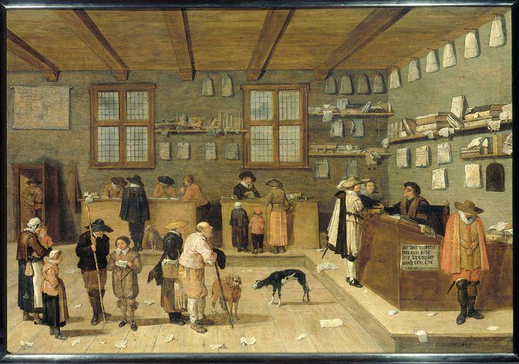 Title:Het kantoor van de advocaat. Creator: Vervaardiger:  Bloot, Pieter de Date of creation:1628