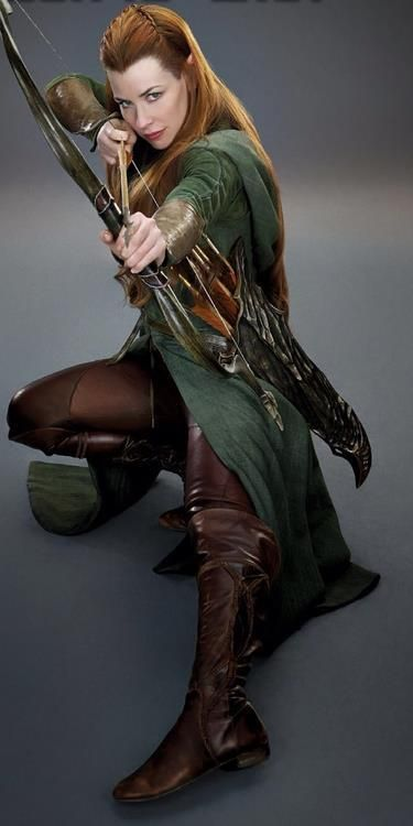Evangeline Lilly as Tauriel- who wasn't suppose to be in The Hobbit: Desolation of Smaug but I still liked her because she was awesome.