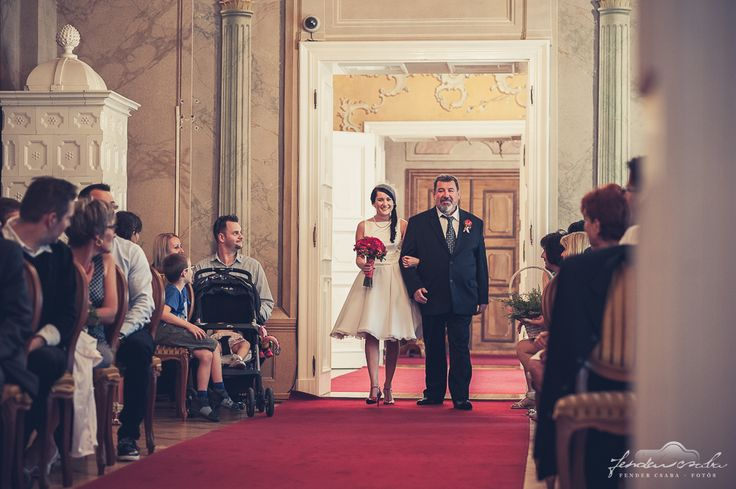 here comes the bride with her father
