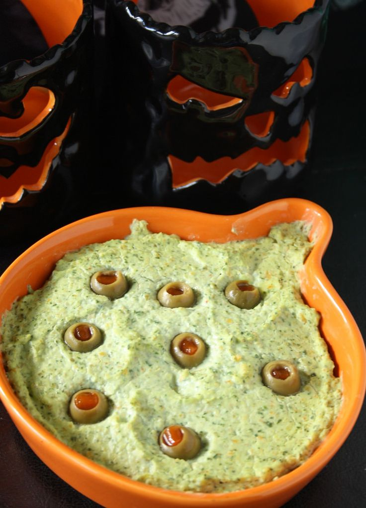 I loved this Halloween Eyeball Dip made with olives and even though Reg doesn't like olive, he loved it too! Spooky!!!