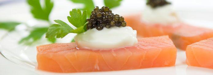 CAVIALE ADAMAS - EXCLUSIVE ITALIAN CAVIAR - VENDITA CAVIALE ONLINE - RICETTE CON CAVIALE - Sashimi di salmone al caviale