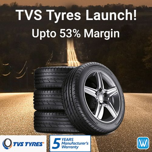 #Retailers, TVS Tyres now available at #WYDR. Source tyres Directly from manufacturer with 5 Years warranty. 2% WydrCash on Wydr Wholesale E-Commerce. SuperFast Delivery. Order Now