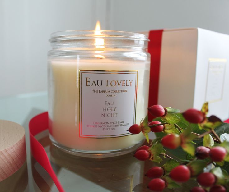 Eau Holy Night Candle - A magic Christmas candle, beautifully gift wrapped. Eau Holly Night will fill your home with the scent of cinnamon, spice and all things nice for Christmas!