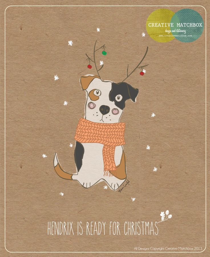 Hendrix the pup is ready for Christmas - With Creative Matchbox