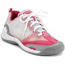 Women's SeaRacer Sailing Shoes with GripX3, White/Raspberry, 6