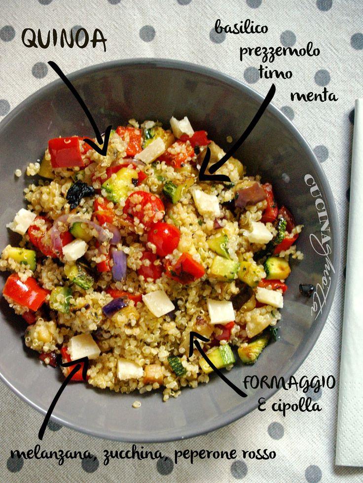 http://www.cucinaghiotta.it/2014/08/quinoa-con-verdure-e-erbe-aromatiche.html Quinoa con verdure e erbe aromatiche