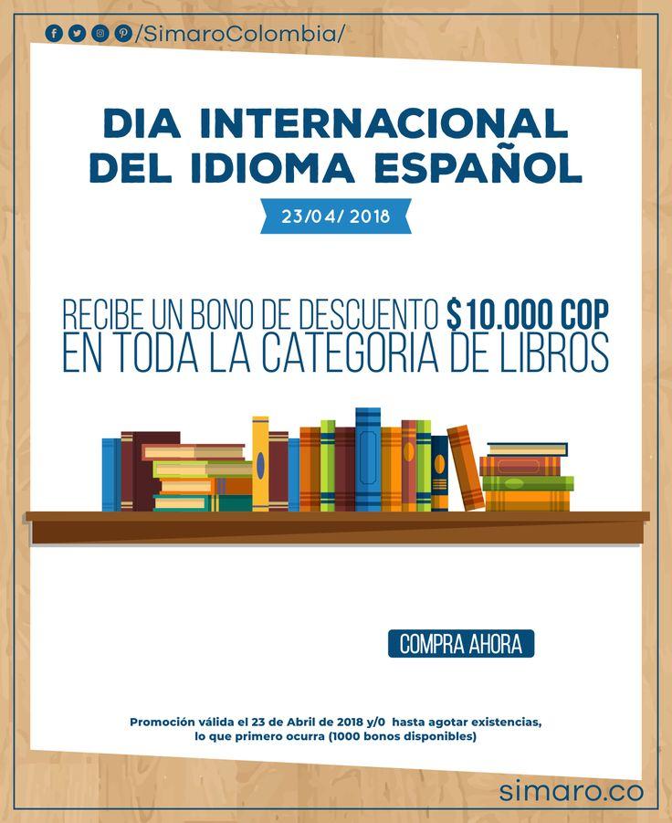 Celebra el día del idioma y Recibe un bono de $10.000 COP en toda la sección de Libros en nuestra página 👉🏻https://simaro.co/  @SimaroColombia  #DíaDelIdioma #libros #Books #Cervantes #SimaroCo 🇨🇴 #LoEncontramosPorTi #SimaroBr 🇧🇷 #SimaroMx 🇲🇽 #TiendaOnline #Diversion #Novedades #Compras #Regalos #Descuentos #ECommerce