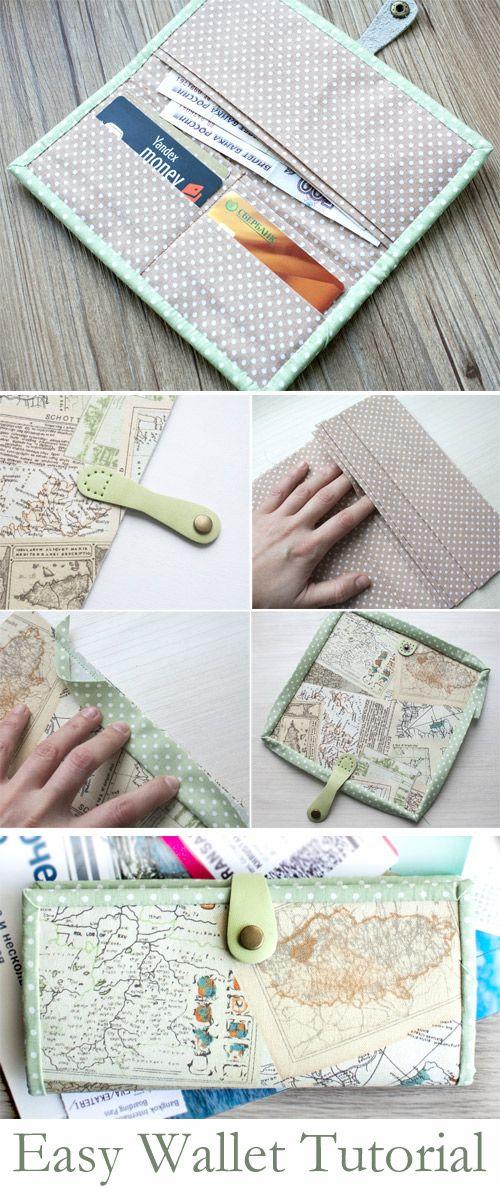 Easy Wallet Holder Sewing Pattern. DIY Tutorial http://www.handmadiya.com/2015/10/easy-wallet-tutorial.html