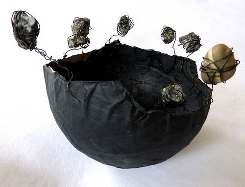 paper, stone, bowl by Ines Seidel