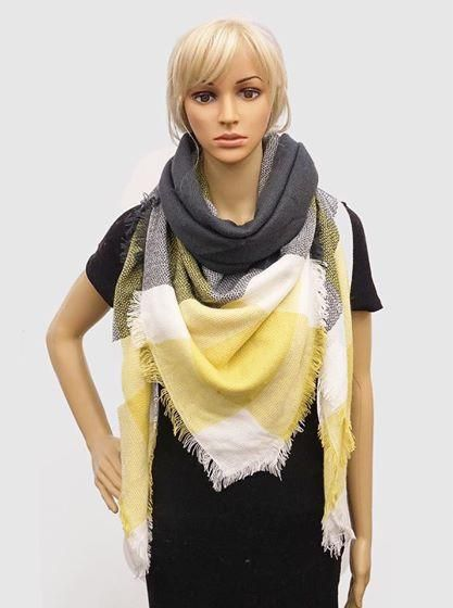 Dream Yellow Blanket Scarf