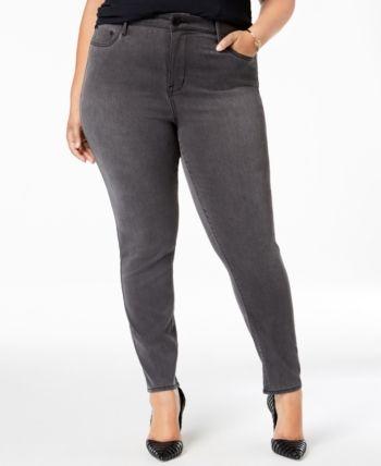 Seven7 Jeans Trendy Plus Size Denim Ankle Leggings – Blue 14W