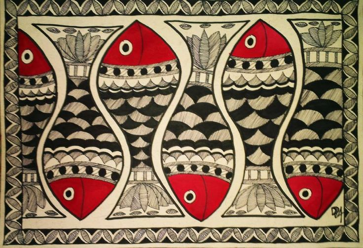 Also called Mithila styleof painting, Madhubani Painting is popular for wall decoration in rural areas of Bihar, Orissa and some parts of Nepal.