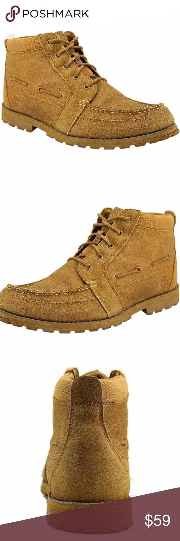 "Timberland Lace Up Tan Workboot 11.5 Timberland Chukka Boots / Earthkeepers Heritage Mt Chk Womens Size 11.5 Brown / Tan Work Boots Style - Leather upper with a rounded toe.   Compare at $160. 00  Size: 11.5 medium  Color: light brown / tan Material: Leather Measurements: Shaft measures 4.5"", circumference measures 9"" and 1"" heel width: medium (b, m).  Perfect choice for this time of year Treat yourself today! Timberland Shoes Ankle Boots & Booties"