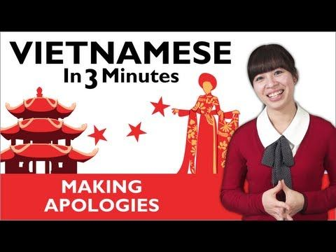 Visit www.vietnamesepod101.com to learn Vietnamese for free! In this lesson, you'll learn how to apologize in Vietnamese.  #vietnamese #vietnamesepod101 #learnvietnamese #vietnam
