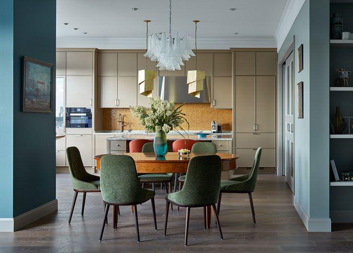 Яркий интерьер для большой семьи в Москве | Красочный интерьер квартиры