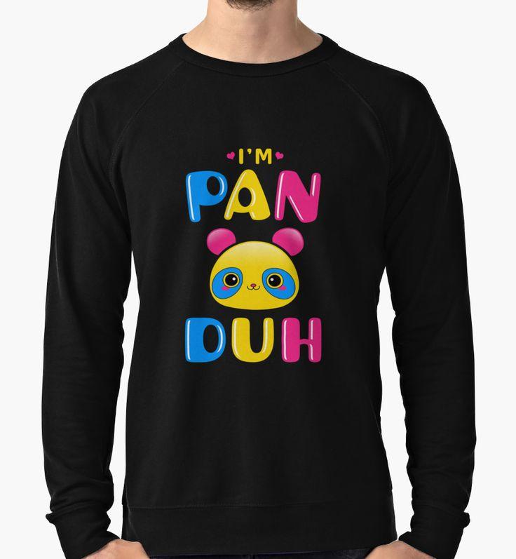 Pansexual Panda Bear Rainbow Funny I'm Pan Duh Gay Pride LGBTQ by CozyTeesBuffalo