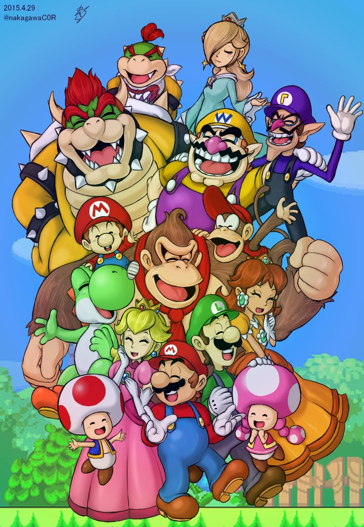 Mario Family by doctorWalui.deviantart.com on @DeviantArt