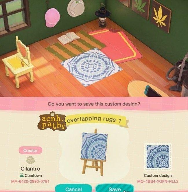 Animal Crossing Patterns S Instagram Post Overlapping Rug Path Acnh Animalcrossing Animalcrossingnewh In 2020 Animal Crossing Sprinkles Design Custom Design