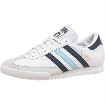 adidas Originals Mens Beckenbauer Trainers White/Navy/Sky Blue