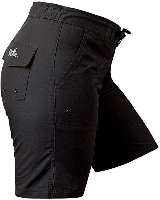 6458f900c70 UV SKINZ UPF50+ Womens Board Shorts-Black-XS at Amazon Women s Clothing  store