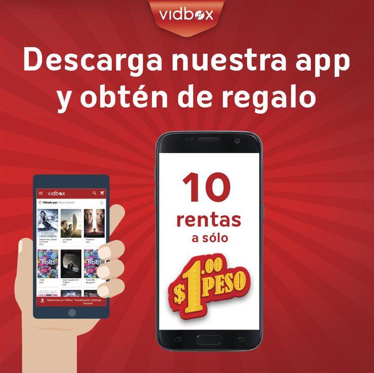 Reserva en tiempo real tus #Películas y recógelas más tarde en la sucursal que elegiste, ¡todo es más fácil con la nueva app de #VidboxMéxico!  1. Descarga la APP  2. Regístrate  3. Haz tu primera renta, y recibe tus 10 códigos de $1 peso.   #Vidbox #PonlePlay #CineEnCasa #DiversiónEnCasa #Movies #DVD