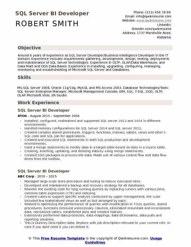 Ssas Developer Resume In 2020 Medical Assistant Resume Resume Skills Resume Examples