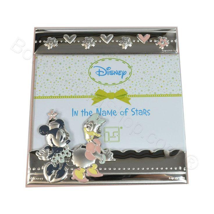 Portafoto Minnie e Daisy in laminato argento #minnie @daisy @disney #portafoto #argento #idearegalo