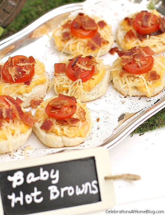 Make a mini version of the famous Kentucky Hot Brown sandwich for the quintessential Derby Day party dish.