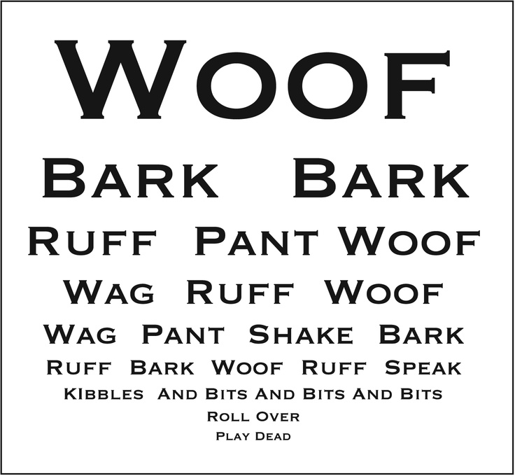 Eye Chart for Dogs