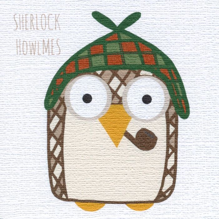 """""""Sherlock Howlmes"""" Is there a mystery man in your life? Perhaps this is the card for him! Blank inside"""