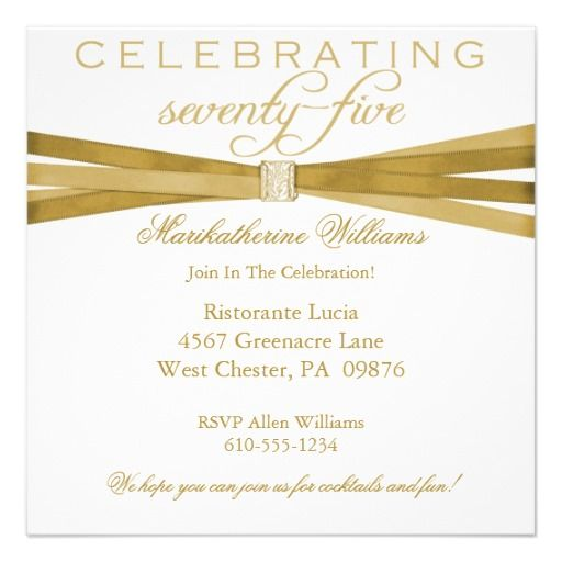 65 best 75th birthday invitations images on pinterest 75th elegant 75th birthday party invitations filmwisefo
