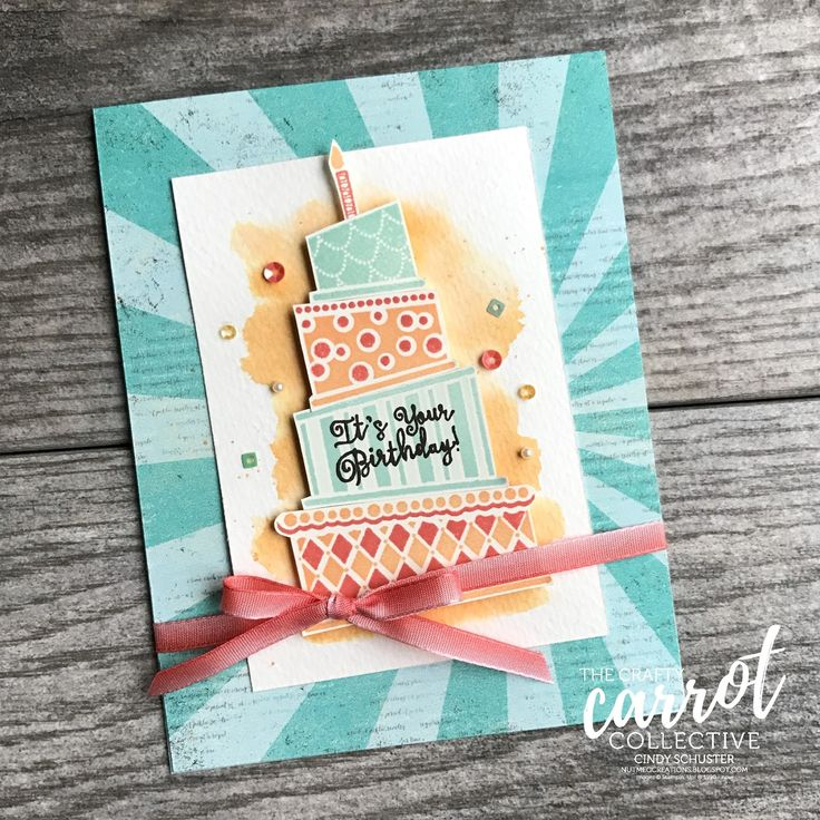 This Crazy Cake Stamp Set is so fun to make lots of birthday cards!