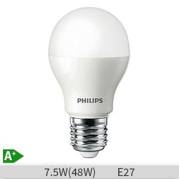 Bec LED Philips A60 7.5W E27 20000 ore lumina calda http://www.etbm.ro/becuri-led