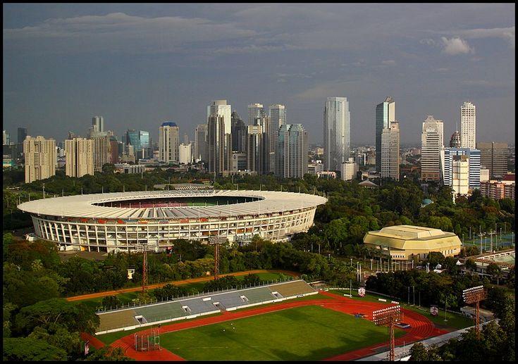Jakarta City and Stadium, a photo from Jakarta Raya, Java | TrekEarth