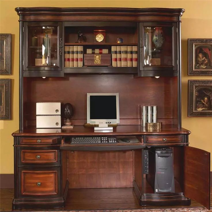 Coaster 800500 Pergola Credenza Desk With Hutch