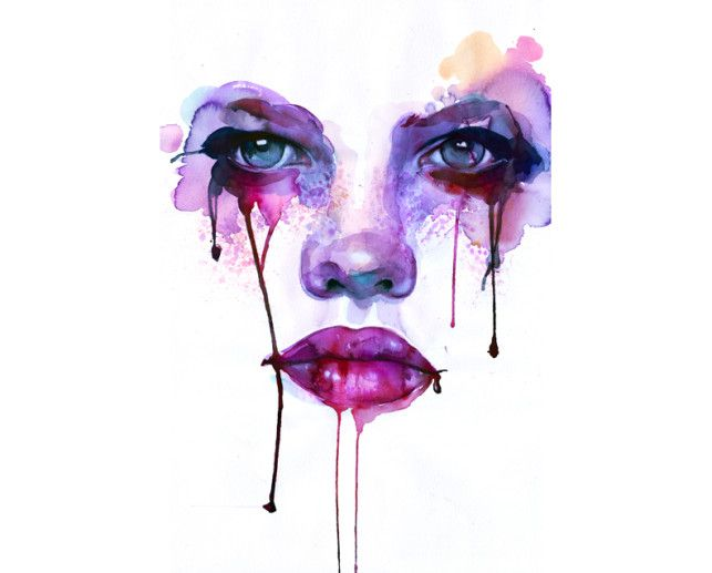 Purple tears by Marion Bolognesu