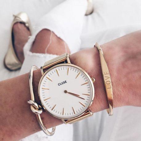 Cluse La Boheme Mesh Gold/White  | Για αγορά πατήστε πάνω στην εικόνα