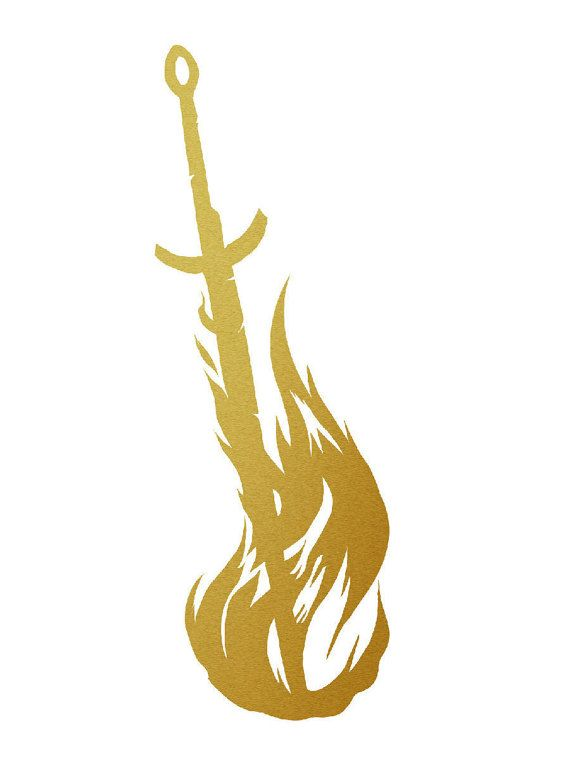 Bonfire Metallic Gold Vinyl Decal for Smart Phone Car por Crowsmack