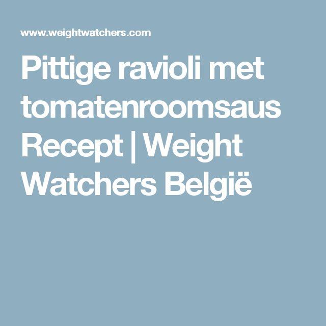 Pittige ravioli met tomatenroomsaus Recept | Weight Watchers België