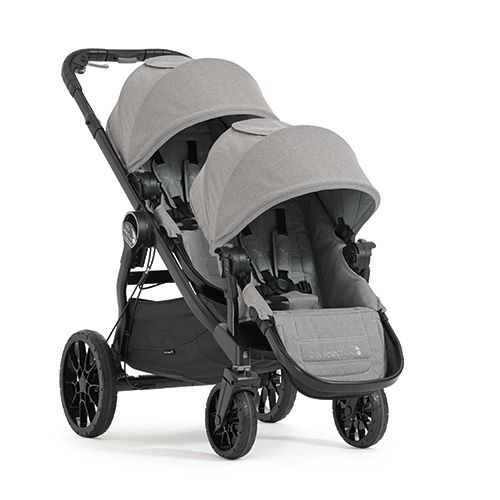The newest addition to the Baby Jogger family, the City Select LUX converts from a single to double stroller and has over 20 different riding options for you and the kids to choose from. (You can even fit three kids by adding a glider board.) There's a decelerating brake and a parking brake right on the handle for easy access, and the all-wheel suspension will keep baby from bouncing over every crack in the sidewalk. A large basket at the bottom can store toys, blankets or groceries, and…