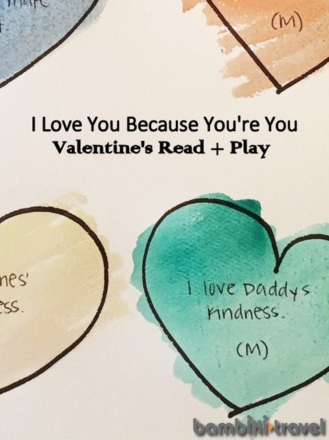 I Love You Because... | Valentines Day Read and Play : a children's book and activity for preschoolers | Bambini Travel