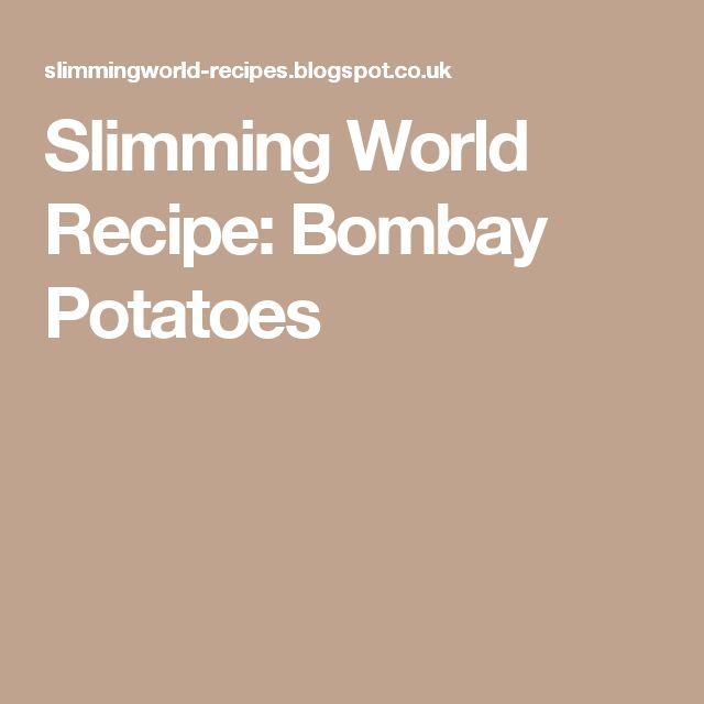 Slimming World Recipe: Bombay Potatoes