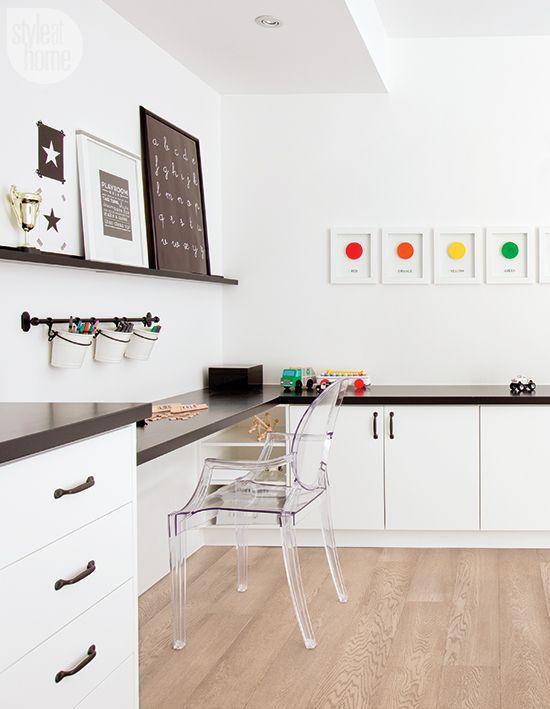 Stylish craft and work station for children {PHOTO: Janis Nicolay}