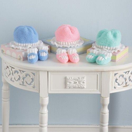 Free Hat & Slippers Knit Pattern