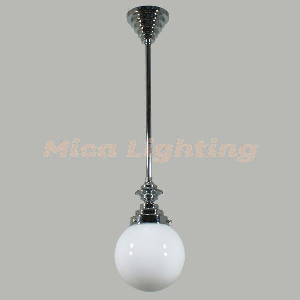 "Uptown 1 Light 0.5"" Rod Set Chrome Sphere 6"" Glass $74"