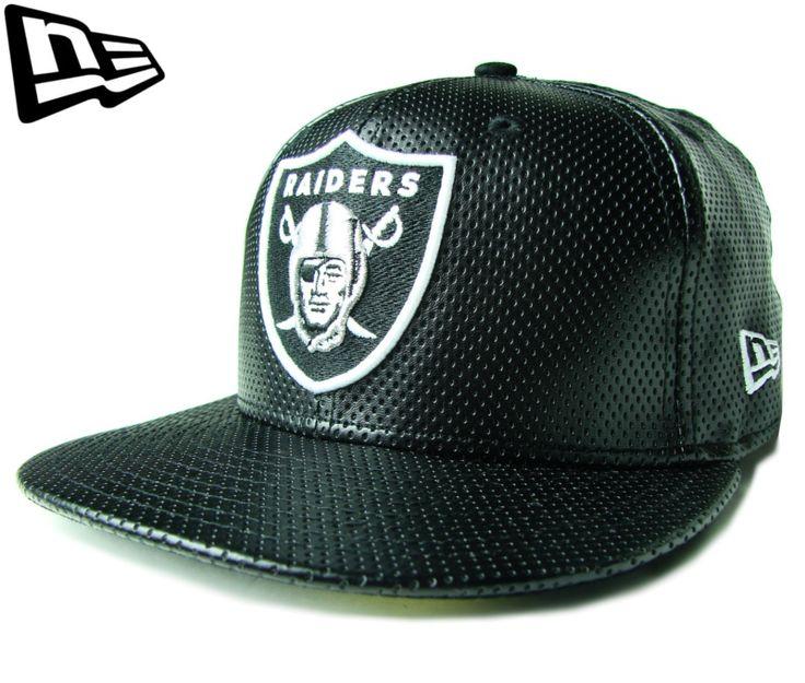 """(ニューエラ) NEW ERA 59FIFTY """"パンチレザー"""" OAKLAND RAIDERS ブラック【WHITE】【BLACK】【黒】【newera】【帽子】【オークランド・レイダース】【アメフト】【LEATHER】【CAP】【キャップ】【合皮】【LA】【NFL】"""