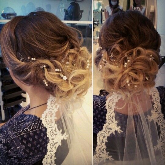 #Romantic #bride #hairstyle