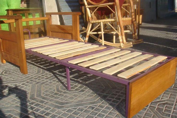 sof sill n cama de 1 plaza de madera super refozado sof s