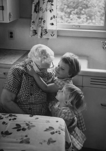 Grandma's Kitchen...full of love.... That's really all Grandma's want are hugs...brings tears to my eyes.