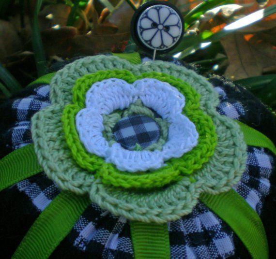 ganchillo: Pincushions Biscornu Crochet